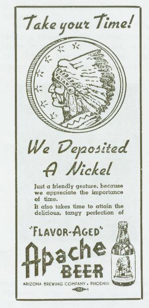 Flyer for the Arizona Brewery Nickle promo.