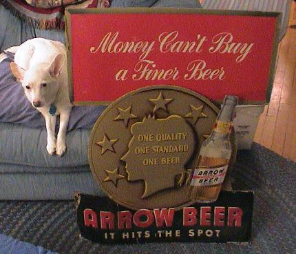 Arrow Beer sign.