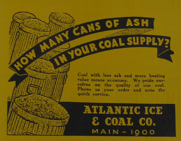 Atlantic Ice and Coal ad, 1935.