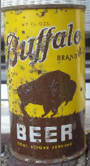 Buffalo Beer can.