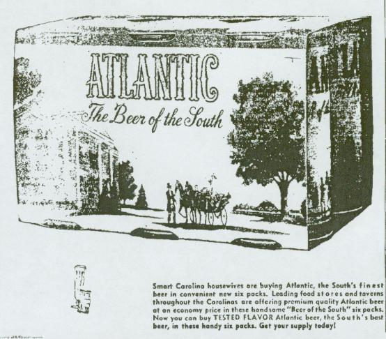 Atlantic Beer ad March 1955.