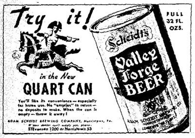 Valley Forge Quart ad.
