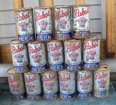 Pabst cans.