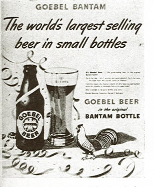 Goebel Bantam Bottle Ad.