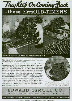 Heurich Bottling line in 1939. Click to see larger version.