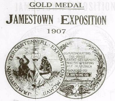 Jamestown medals