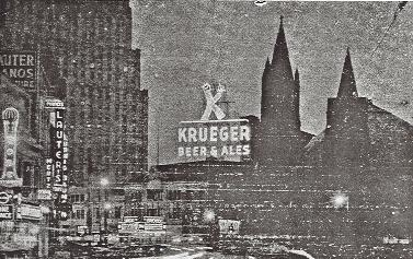 Krueger neon sign 1937.
