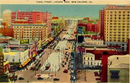 New Orleans Canal street, 1940s.
