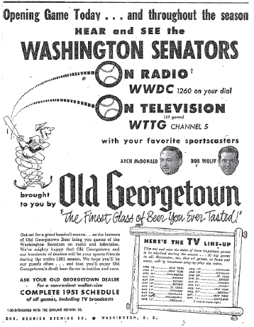 1951 Old Georgetown ad.