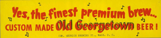 Old Georgetwon bumper sticker.