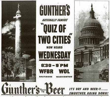 Quiz of Two Cities ad.