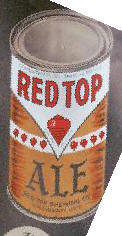 red top ale can.
