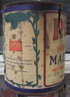 Red Top Malt can.