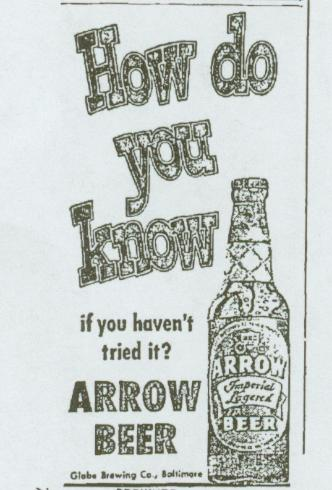 small arrow newspaper ad.