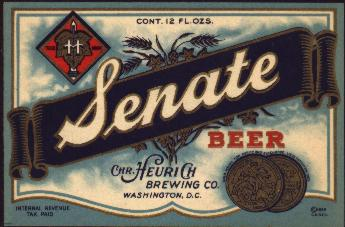 Senate Beer Label.