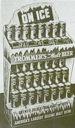 Trommers Malt Beer Display.