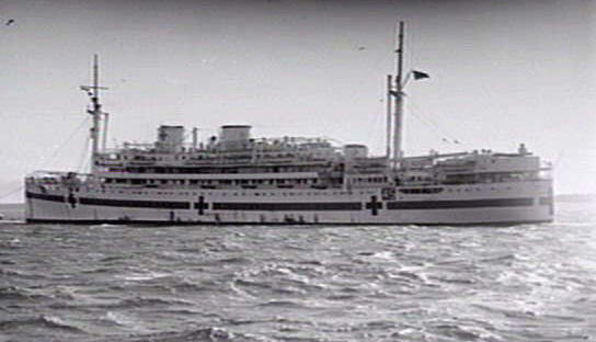 The Wanganella as hospital ship.